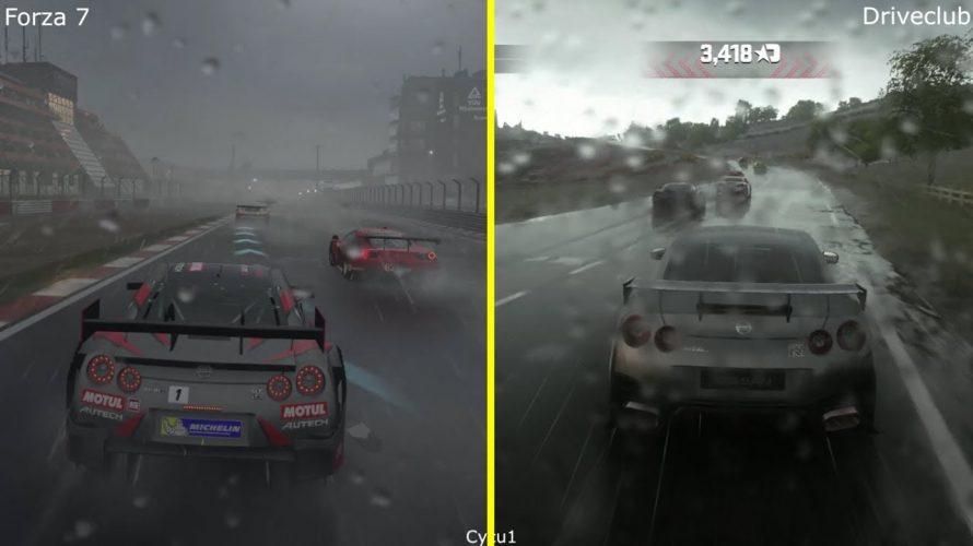 Forza 7 vs Driveclub Karşılaştırması – Yağmur Efektleri